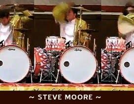 Steve Moore. O baterista louco