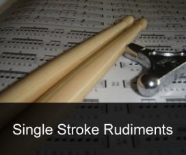 Rudimentos de bateria – Single stroke rudiments – exercícios e aplicações