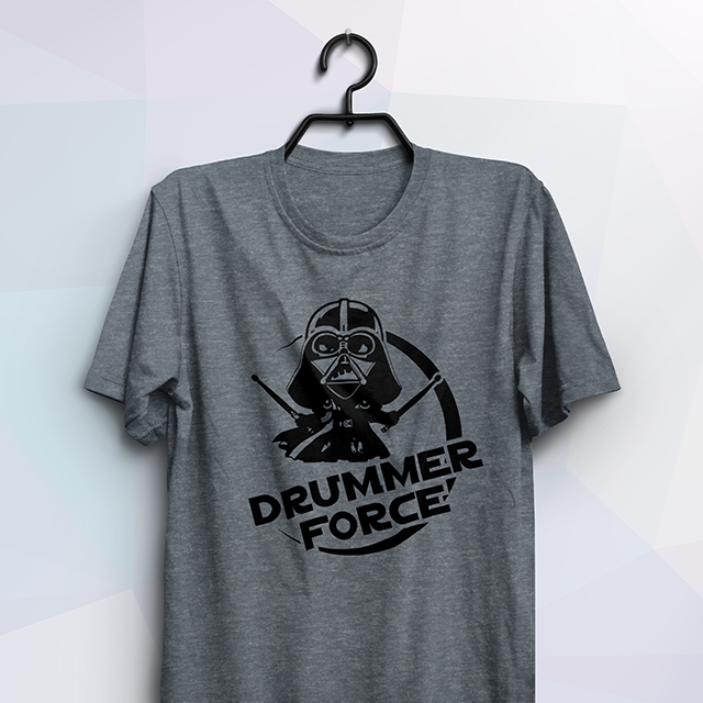 Camiseta Drummer Force - Clube do Baterista