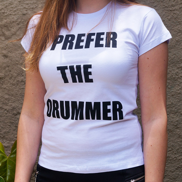 Baby Look I Preffer The Drummer - Clube do Baterista
