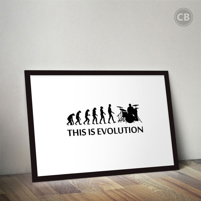 Quadro This Is Evolution - Clube do Baterista