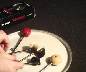Tipos de batedores de bumbo e suas características