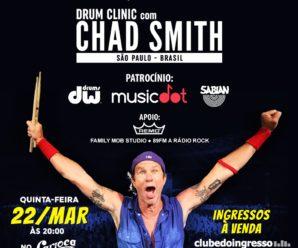 Chad Smith realizará Workshop em SP em março
